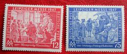 Leipziger Herbstmesse Mi 965-966 Y30-31 1947 POSTFRIS/ MNH ** Germany Deutschland Alliierte Besetzung - Zona AAS