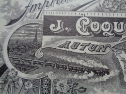 FACTURETTE - 71 - DEPARTEMENT DE SAONE & LOIRE - AUTUN 1902 - IMPRIMERIE : J. COQUEUGNIOT - Unclassified