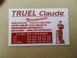 AUTOCOLLANT STICKER - TRUEL CLAUDE – VERNISSEUR -Z.A. BEL AIR 12000 RODEZ – RENOVATION MEUBLES MENUISERIES ESCALIERS - Adesivi
