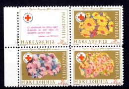 Makedonien   Michel #  26 - 29 **  4-er Block - Red Cross