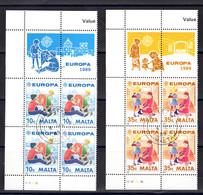 Malta  Michel # 816 - 17  4-er Blöcke Europa 1989 - Malta