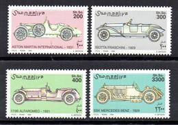 SOMALIA, 1999 - SERIE, SET - AUTO STORICHE - HISTORIC CARS, MNH** - Somalie (1960-...)