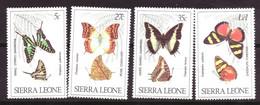 Sierra Leone - Butterflys Series MNH ** (1980) - Sierra Leone (1961-...)