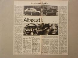 # ARTICOLO - CLIPPING ALFASUD TI , IMPRESSIONI DI GUIDA / 1973 - Publicités