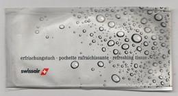 Swissair Zwitserland-suisse (CH) Refreshing Tissue-verfrissingsdoekje - Cadeaux Promotionnels