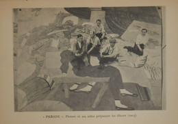 """Picasso. Reproduction. 1938. """"Parade"""". Picasso Et Ses Aides Préparant Les Décors En 1917. - Estampes & Gravures"""