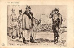 Propagande Française. Victoire, Majesté, J'ai Massacré Un Enfant Et Un Vieillard. - War 1914-18