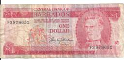 BARBADES 1 DOLLAR ND1973 VG+ P 29 - Barbados