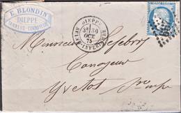Lettre Du 30 Octobre 1875  De Dieppe  GC 1299 Departement  74 - 1849-1876: Période Classique