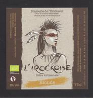 Etiquette De Bière  Blonde  -  L'Irockoise  -   Brasserie De L'Emblavez à Vorey  (43) - Beer