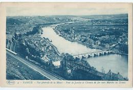 Namen - Namur - Vue Générale De La Meuse - Pont De Jambes Et Chemin De Fer Vers Marche-les Dames - Namur