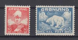 Greenland 1946 - Michel 26-27 Mint Hinged * - Ungebraucht