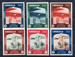 T1-10  Cirenaica  PA N° 24 à 29 * (charnière Très Légère Quasi Invisible)  A Saisir !!!  Avions - Cirenaica