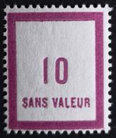 France Fictif N° F84 N* Gomme D'origine, TTB. Cote 2020 : 2,40 €. Voir Photos Recto Verso ! - Ficticios