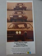 # ADVERTISING PUBBLICITA'  OPEL COUPE' MANTA 1200 - 1973 - Publicités
