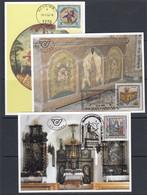 Auqtria 1992 Volkskunstliche Kostbarkeiten 3v 3 Maxicards (51942) - Cartas Máxima