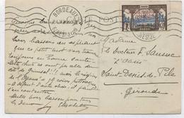 POSTE MARITIME - CACHET DE BORDEAUX DU 24/11/1930 SUR TIMBRE DU GABON - Correo Marítimo