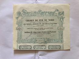 CHEMIN  De  FER  De  PARIS  à  La  FRONTIÈRE  De  BELGIQUE ---------Action  De  500 Frs - Bahnwesen & Tramways
