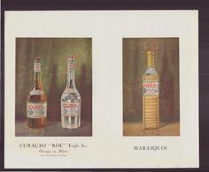 """Publicitaire """" Curaçao, Marasquin, Cherry, Eau-de-vie Dantzig """" - Publicités"""