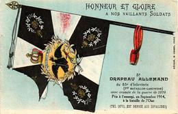 Drapeau Pris Aux Allemands.85e D'infanterie - War 1914-18