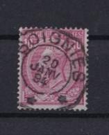 Ca Nr 46 Soignies Telegraafstempel (ster Stempel) - 1884-1891 Leopold II