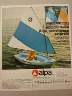 # ADVERTISING PUBBLICITA' BARCA ALPA - 1973 - Publicités