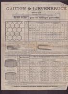 """Publicitaire """" Gaudon & Loevenbruck """" Usine, Forges Et Ateliers Au Havre - Publicités"""