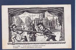 CPA Guignol Marionnettes Cirque Circus Non Circulé WWI Guerre War Satirique Kaiser - Circo