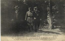 La Guerre 1914 17 Anniversaire De La Bataille De La Marne Le General Maunoury Et Son Officier D'ordonnance Viennent  RV - War 1914-18