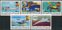 Mauritanie 1977. Mi.#576/80 MNH/Luxe. Transport. Aviation History. Concorde (Ts27) - Mauritania (1960-...)