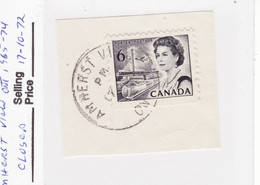 4569) Postmark Cancel CDS SON Closed Ontario - Used Stamps