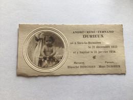 Sans La Buissieres Carte De Naissance 1933 - Non Classificati