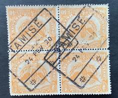 TR64 BLOK VAN 4 Gestempeld TAMISE - 1915-1921