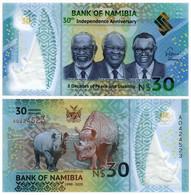 NAMIBIA 30 DOLLARS 2020 P NEW - UNC (POLYMER) - Namibia