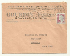 NORD - Dépt N° 59  = GRAVELINES 1962 = FLAMME Non Codée = SECAP Muette '5 Lignes Ondulées' + BRASSERIE Des HUTTES - Mechanical Postmarks (Advertisement)