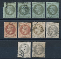EA-179: FRANCE: Lot Avec N°25(4)-26(2)-27(4) Obl 1er Choix - 1863-1870 Napoleon III With Laurels