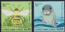 Cyprus.2021.Europa CEPT.Endangered National Wildlife.2 V. ** . - 2020