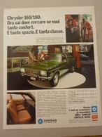 #  ADVERTISING PUBBLICITA' CHRYSLER 160/180 - 1973 - Publicités