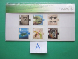 2009 THE BIRTH BICENTENARY OF CHARLES DARWIN PRESENTATION PACK. ( A ) - Presentation Packs