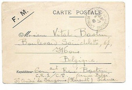 SH 0894. CP F.M. Obl. St ANDRE DE SANGONIS / HERAULT 7.7.40  D' Un Officier CRI/C.T. Armée Belge Vers Mons - Covers