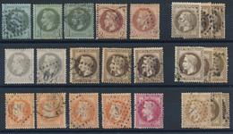 EA-180: FRANCE: Lot Avec NAPOLEON 1er Et 2ème Choix, Assez Beau D'aspect (voir Détail) - 1863-1870 Napoleon III With Laurels