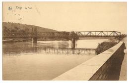 ENGIS Le Pont 1934-V-22 Timbre 25c Rouge - Edit A Houart, Engis Liège_CPA-TTB_Liège - Engis