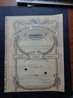 ESPAGNE - MARCELONE 1913 - COMPANIA TRASATLANTICA - ACTION DE PREFERENCE DE 500 PESETAS - Unclassified