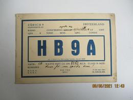 Carte Qsl 1934 Suisse Switzeland Zurich 9 - Amateurfunk