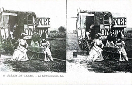 CPA THEMES CARTES STREREOSCOSPIQUES SCENES DE GENRE LA CARTOMANCIENNE N°8  VOIR IMAGES - Cartoline Stereoscopiche