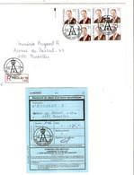 5REF/ TP 2754 (7) Albert II MVTM S/L.Recommandée C.Spécial PHILEURO 98 BXL 1020 217/4/1998 > 1180 BXL Avec Récépissé - Covers & Documents