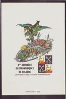 """Publicitaire """" Journées Gastronomiques De Sologne """" Groupement Philatélique Romorantinais - Publicités"""
