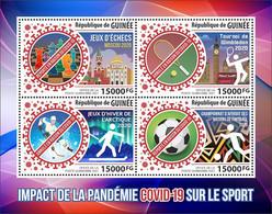 GUINEA 2021 - COVID-19, Hockey. Official Issue [GU210154a] - Jockey (sobre Hielo)