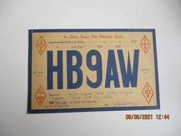 Carte Qsl 1934 Suisse Neu Allschwil - Radio Amateur