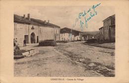 LEBEUVILLE.  Cpa. - Centre Du Village .  (scans Recto-verso) - Autres Communes